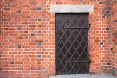 对老大教堂的门在美丽的老市波兹南,波兰 免版税库存图片