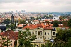 对老布拉格桥梁的看法,捷克 库存照片