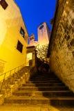 对老教会的楼梯Omis的 库存照片