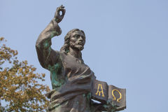 对耶稣基督的纪念碑 免版税库存照片