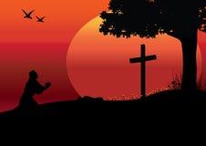 对耶稣的暗指,传染媒介例证 库存图片