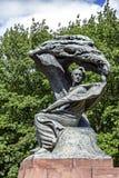 对肖邦的纪念碑在Warsaw's Lazienki,波兰 库存图片