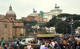 对胜者的伊曼纽尔ii意大利纪念碑罗马 免版税库存图片