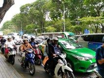 对胡志明越南的交通 库存图片