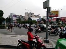 对胡志明越南,路的交通 库存照片