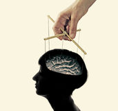 对脑子的控制 免版税库存图片