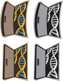 对脱氧核糖核酸的门 库存照片