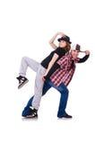 对舞蹈家跳舞 库存照片