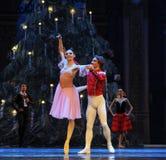 对舞蹈的邀请第二个行动第二领域糖果王国-芭蕾胡桃钳 免版税库存照片