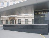 对艾伯蒂娜画廊的入口 免版税库存图片