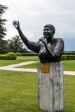对艾瑞莎・弗兰克林的雕象在蒙特勒 库存照片