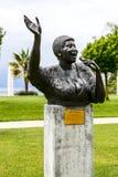 对艾瑞莎・弗兰克林,蒙特勒的雕象 免版税库存图片