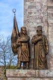 对苏丹Mehmed的纪念品II在信念公园在伊斯坦布尔,土耳其 免版税库存图片