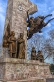 对苏丹Mehmed的纪念品II在信念公园在伊斯坦布尔,土耳其 库存照片