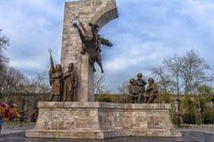 对苏丹Mehmed的纪念品II在信念公园在伊斯坦布尔,土耳其 免版税库存照片