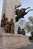 对苏丹Mehmed的纪念品II在信念公园在伊斯坦布尔,土耳其 免版税图库摄影