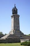 对苏联士兵的纪念碑在索非亚 建造者 库存图片