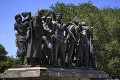 对苏联士兵的纪念碑在索非亚 建造者 库存照片