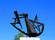对苏联战士刑事营的纪念碑 库存照片