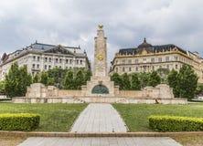对苏联战士救星的纪念碑在布达佩斯 免版税图库摄影