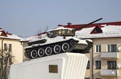 对苏联战士救星的纪念碑在斯洛尼姆 迟来的 免版税库存图片
