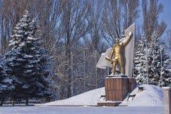 对苏联战士救星的纪念碑 免版税库存图片