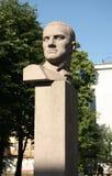 对苏联诗人弗拉基米尔・马雅科夫斯基的纪念碑 免版税库存图片