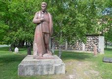 对苏联领导人约瑟夫Vissarionovich斯大林的纪念碑 免版税库存图片