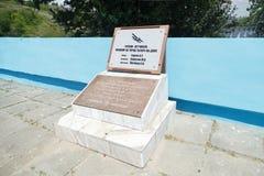 对苏联飞行员的坟墓 库存图片