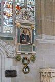 对莎士比亚的纪念碑在三位一体的教会里,开始 图库摄影