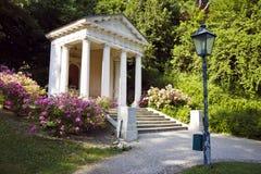 对莫扎特的纪念碑在Kurpark, Baden,奥地利 库存图片