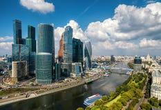 对莫斯科城市的鸟瞰图 库存照片