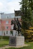 对莫斯科德米特里・顿斯科伊的圣徒王子的纪念碑第一个莫斯科军校学生军团的站点的 免版税库存图片