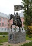 对莫斯科德米特里・顿斯科伊的圣徒王子的纪念碑第一个莫斯科军校学生军团的站点的 免版税图库摄影
