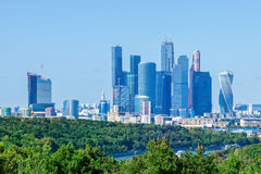 对莫斯科摩天大楼的看法 库存照片