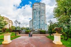 对莫斯科高尔基公园的入口从莫斯科Leninsky大道  图库摄影