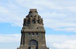 对莱比锡争斗的纪念碑  免版税库存图片