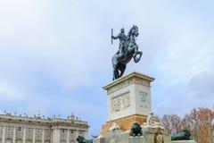 对菲利普的纪念碑IV,马德里 免版税库存照片