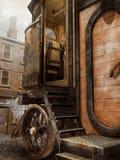 对蒸汽房子的入口 免版税库存照片