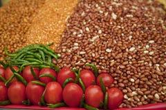 对蔬菜的市场 库存照片