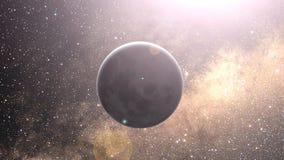 对行星地球的徒升空间在欧洲区域夜间。 库存例证