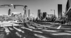 对街市和百年奥林匹克公园的看法 库存照片