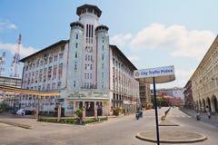 对街道的看法在科伦坡,斯里兰卡的历史部分 库存照片