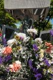 对被动员的学生的纪念塔 库存照片