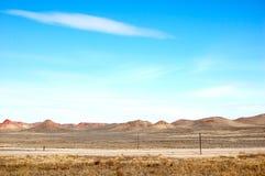 对西方的高速公路在怀俄明 免版税图库摄影