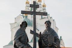 对西里尔和Methodius的纪念碑 免版税库存照片