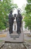 对西里尔和Methodius,塞瓦斯托波尔的纪念碑 免版税图库摄影