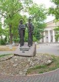 对西里尔和Methodius,塞瓦斯托波尔的纪念碑 免版税库存图片