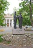 对西里尔和Methodius,塞瓦斯托波尔的纪念碑 免版税库存照片