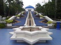 对观测所的长的台阶在吉隆坡 免版税库存照片